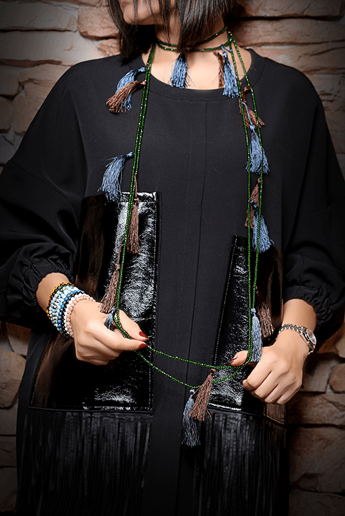 VERRY LONG TASSEL NECKLACE