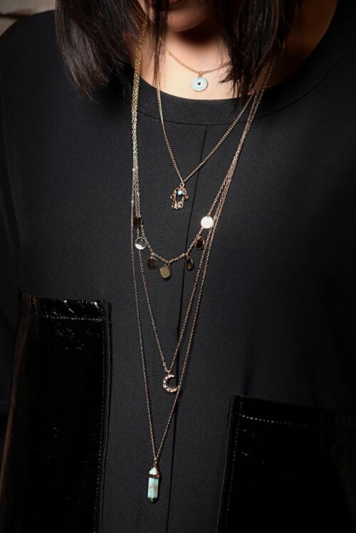 LN28247 necklace gold